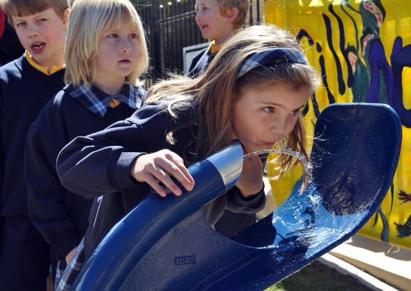 school water drinking fountain