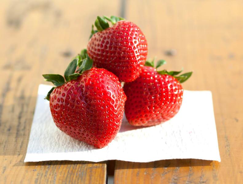 fresh paper strawberries