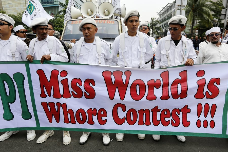 indonesia miss world protest