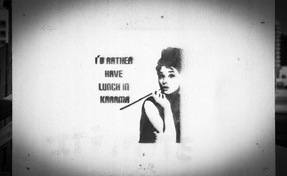 Queen Sheba Audrey Hepburn Dubai graffiti