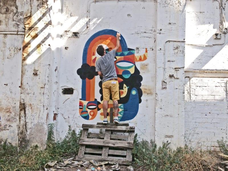 Ruben Sanchez Dubai graffiti artist
