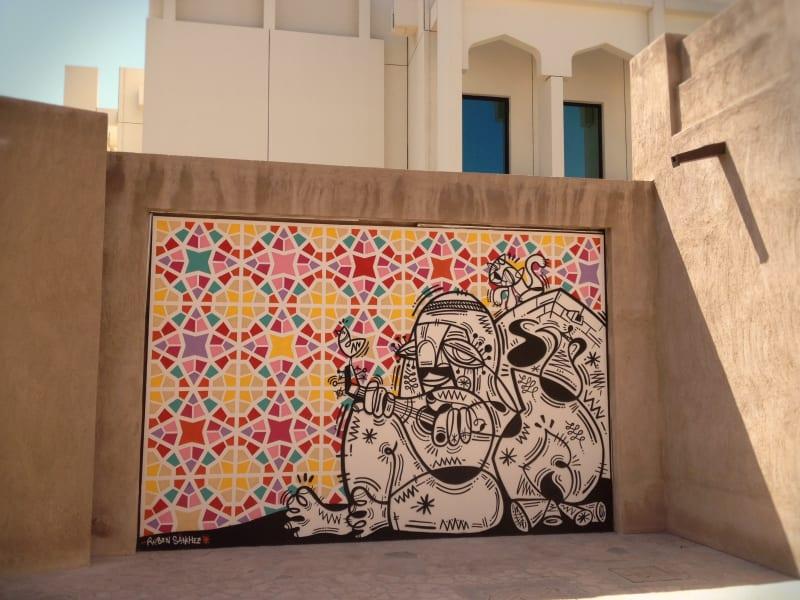 Ruben Sanchez Dubai graffiti art Bastakiya