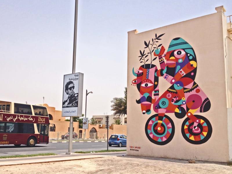 Ruben Sanchez mural Dubai graffiti