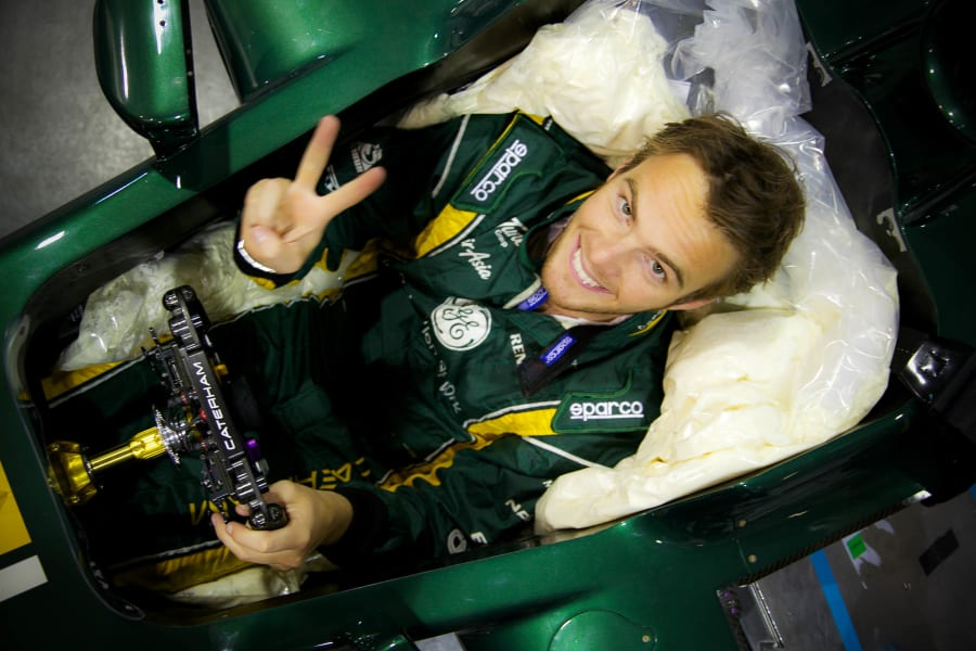 Giedo Van Der Garde cockpit