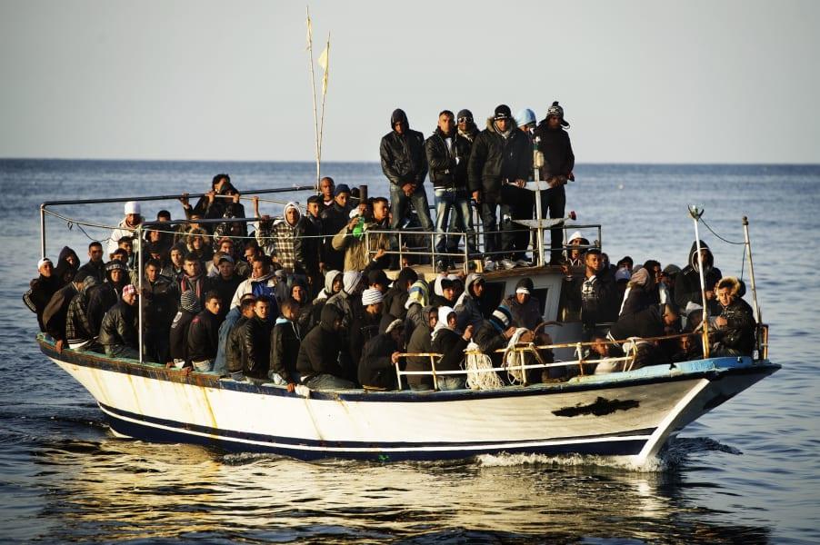 Lampedusa Immigrant Boat