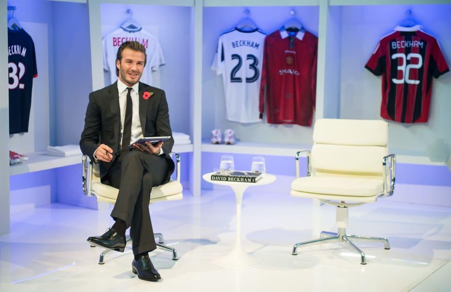 football david beckham facebook launch