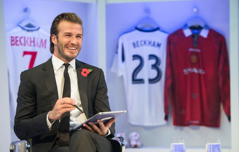 Beckham book launch