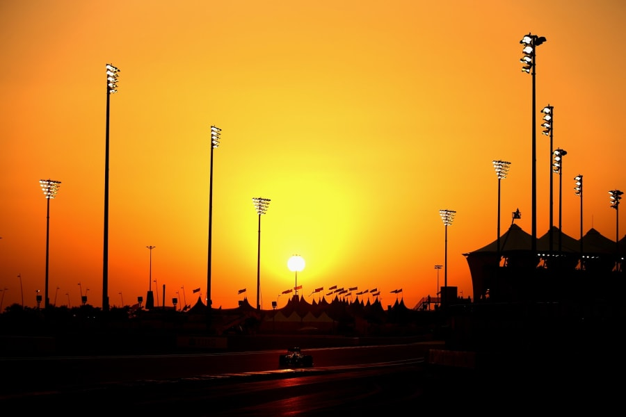 vettel abu dhabi sunset