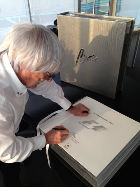 Bernie signing