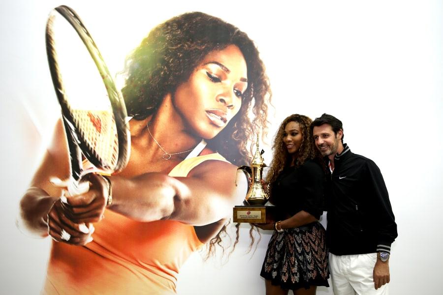 serena williams with coach