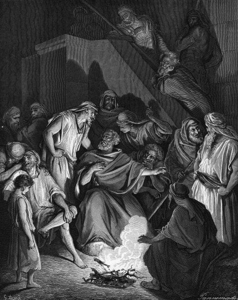 St. Peter denies Christ engraving