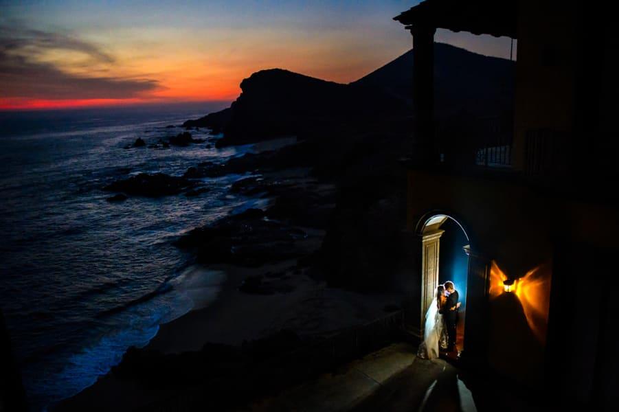 Dramatic Wedding Photos - sunset Chrisman Studios