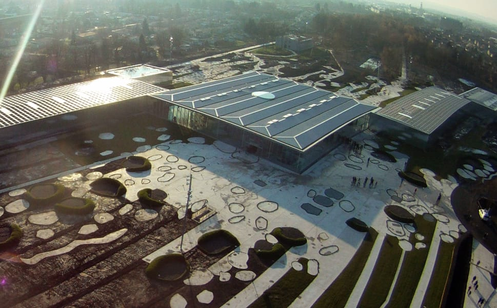 louvre lens aerial view