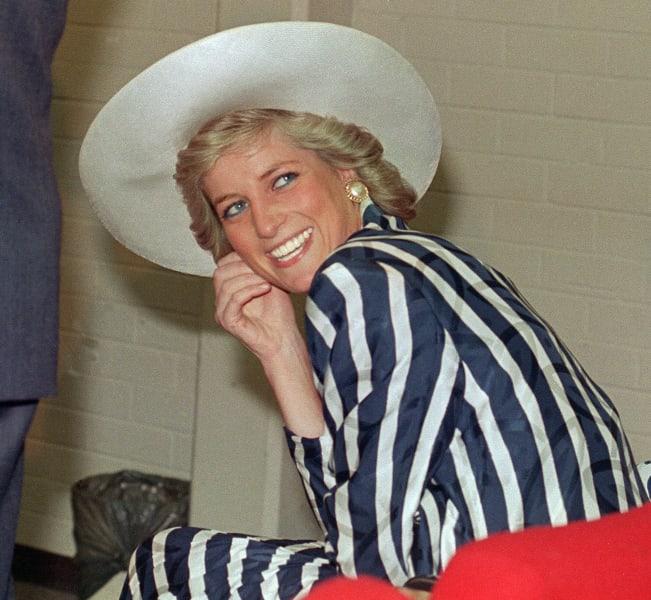 Princess Diana wide brim hat