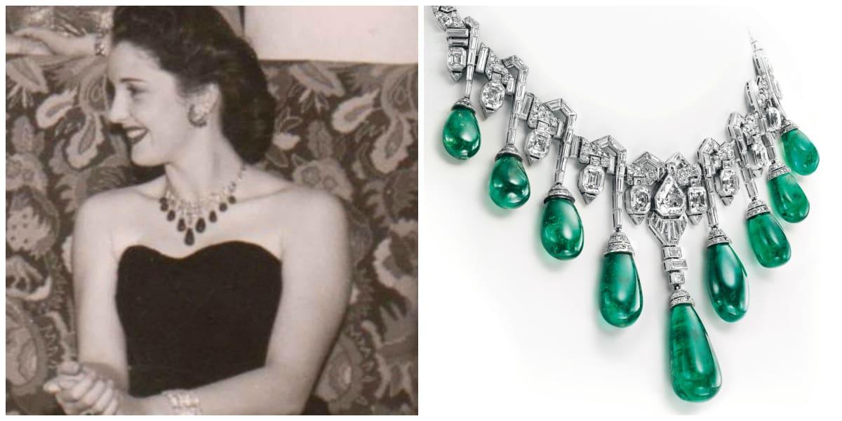 Egyptian princess emerald necklace