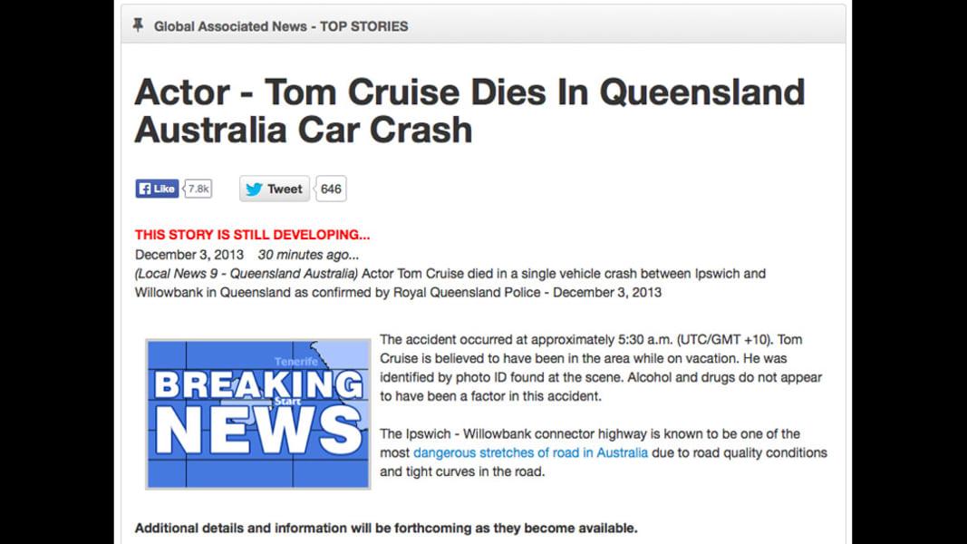 tom cruise hoax