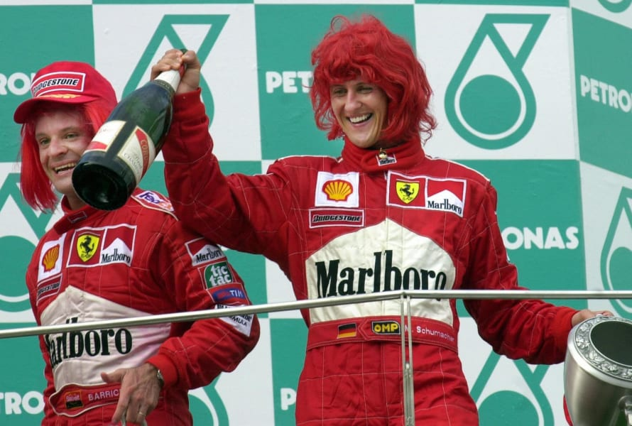 schumacher red wig