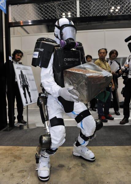 hybrid assistive limb exoskeleton radiation protection