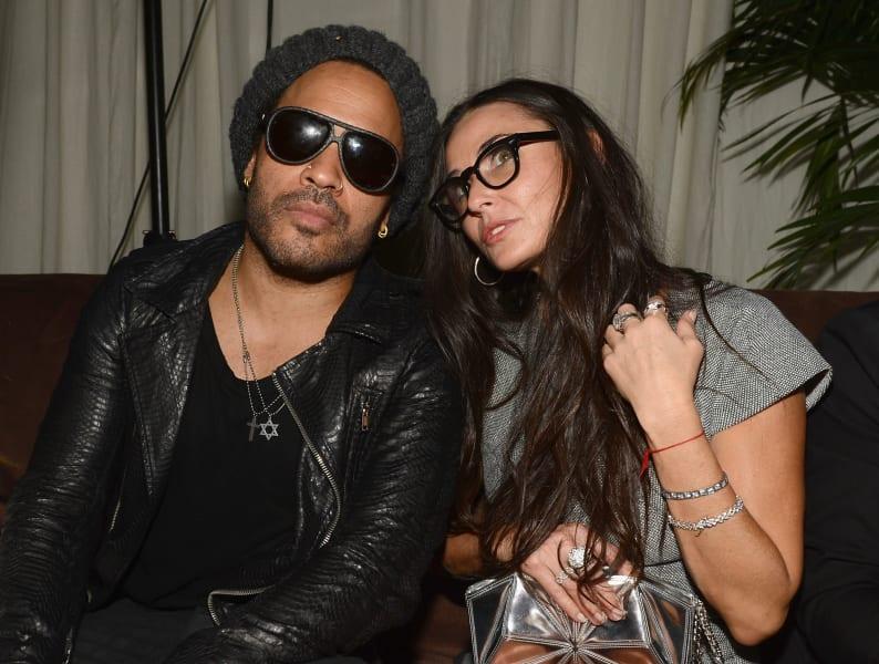 Demi Moore Lenny Kravitz Art basel Miami beach 2012