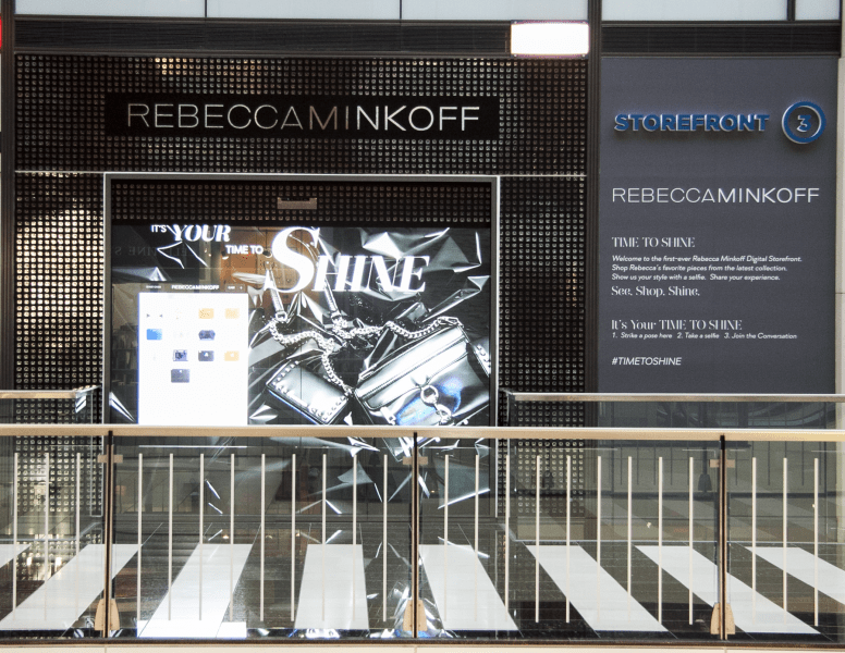 Rebecca Minkoff digital storefront westfield san francisco