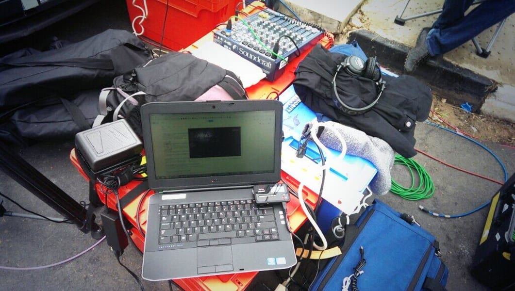 Cuomo's producer's workspace in the field