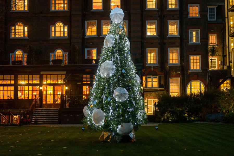 Christmas trees - goring hotel london