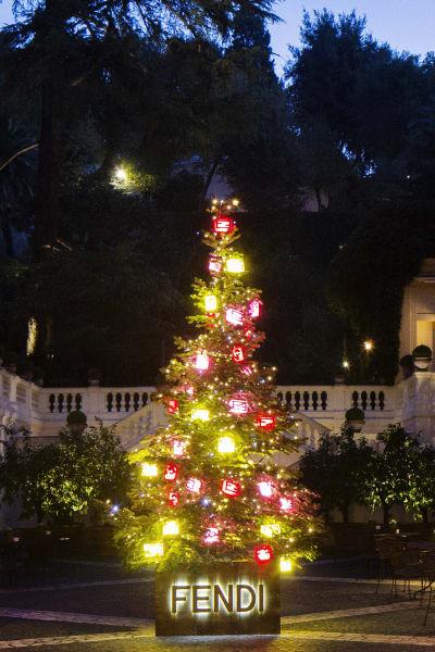Christmas trees - Fendi tree rome