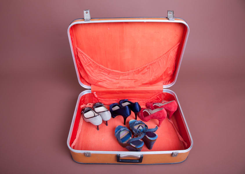 travel tips ticket packing shoes