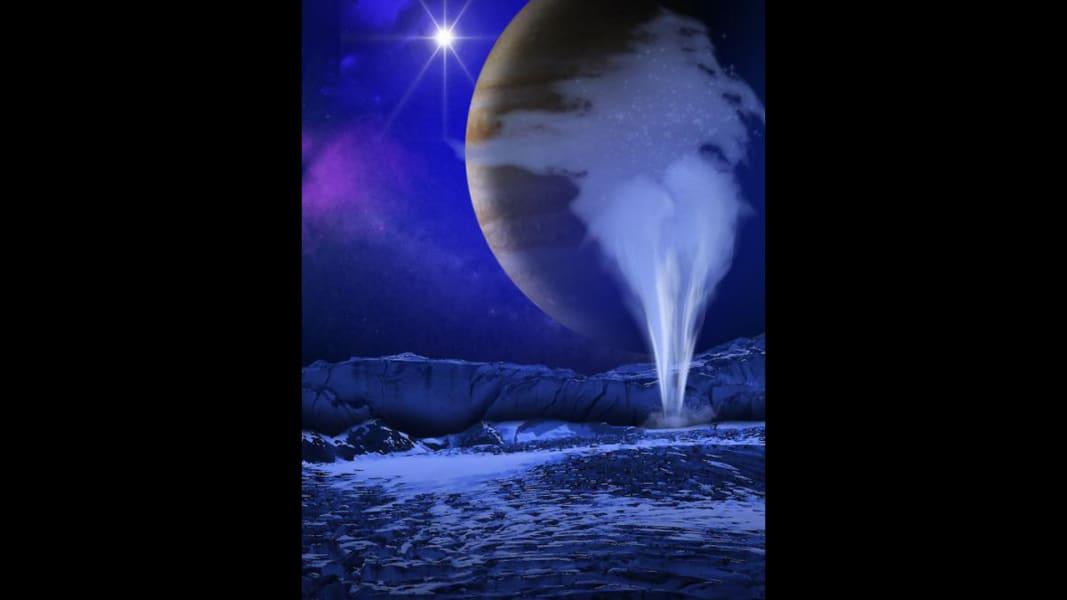 Jupiter moon Europa water vapor