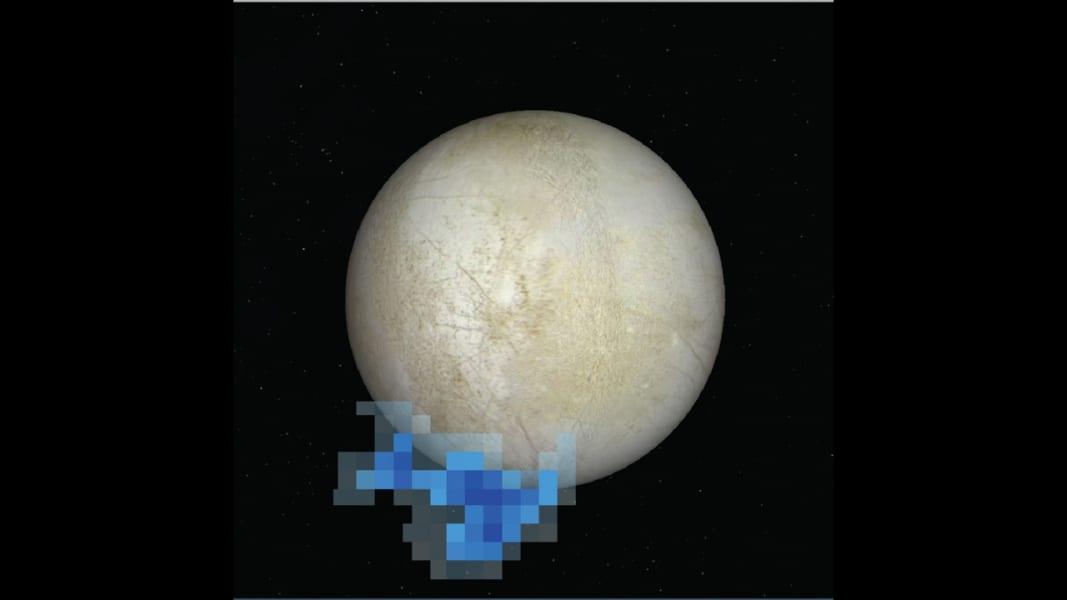 Jupiter moon Hubble water vapor