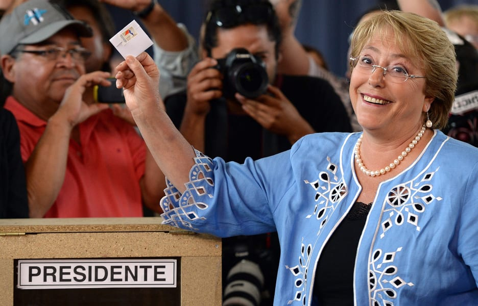 chile election bachelet vote