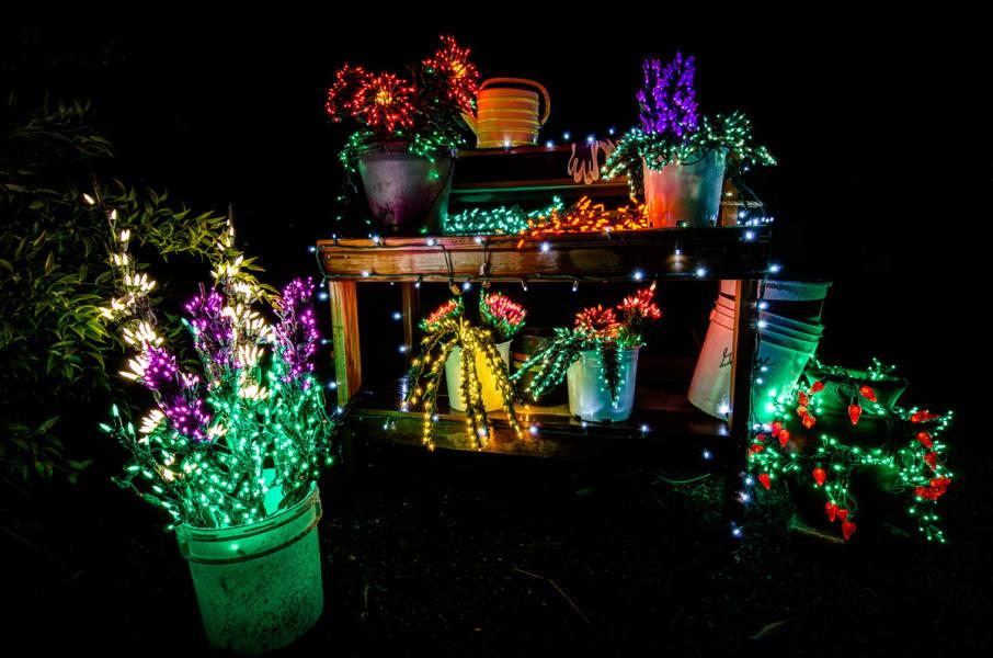 irprt christmas garden bench