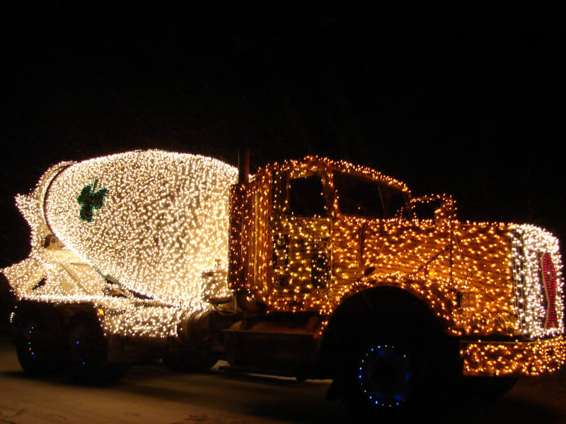 irprt christmas big truck