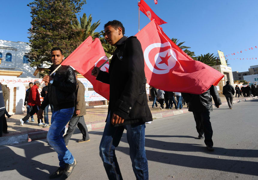 Tunisia uprising anniversary 2