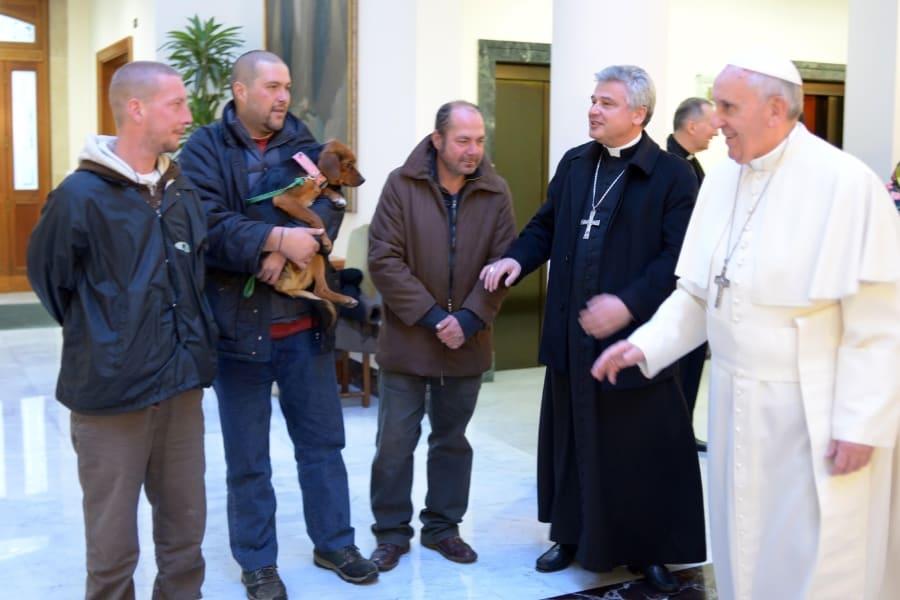 pope birthday homeless