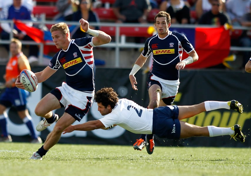 rugby sevens action
