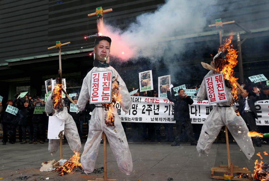 kim jong un protest RESTRICTED