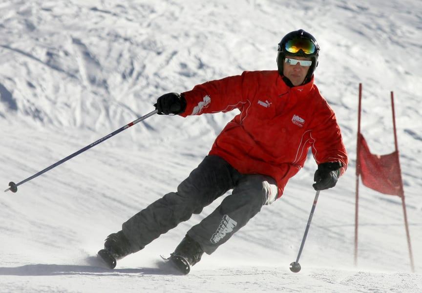 schumacher skiing 1