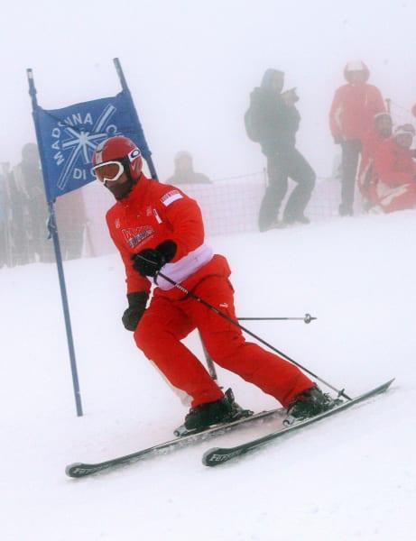 schumacher skiing slalom