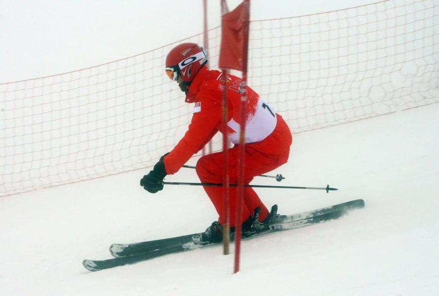schumacher skiing slalom 2