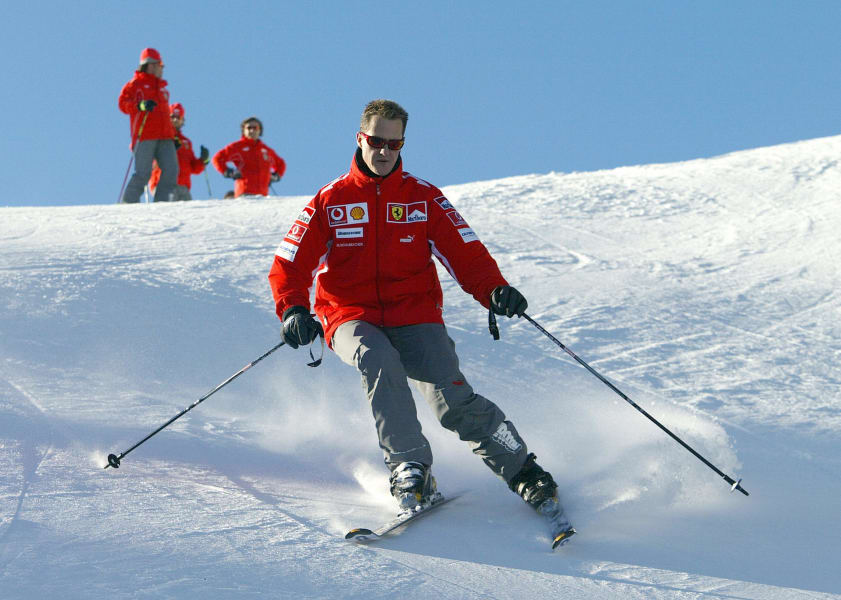 schumacher skiing sun