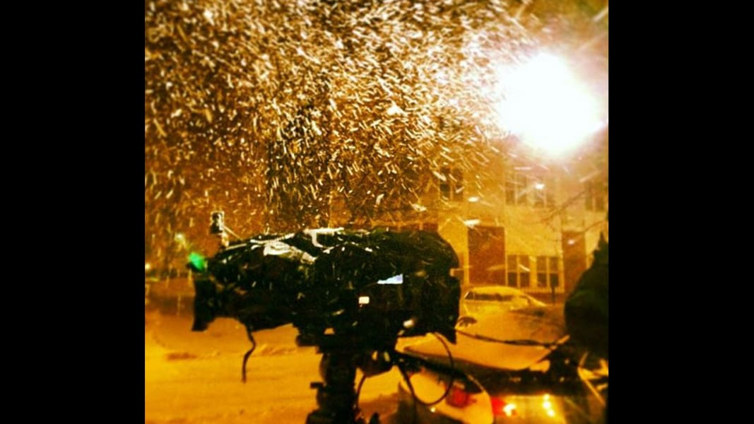 behind the scenes storm camera Newday