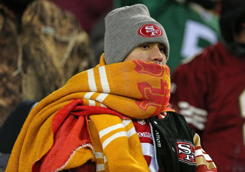 49ers fan scarf