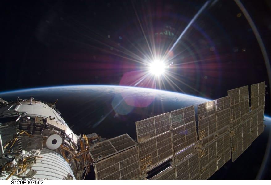 sun rise international space station