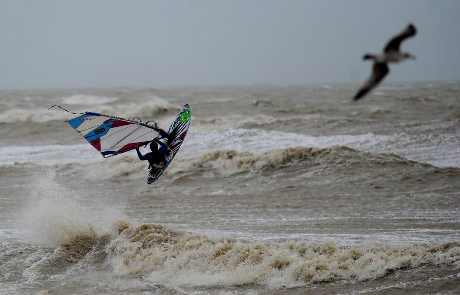 windsurfer storm