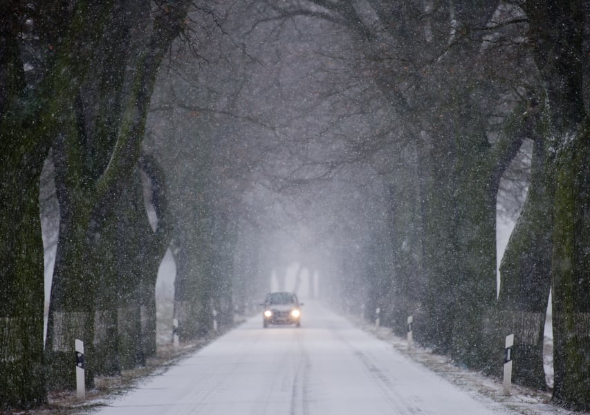extreme weather-coldest road