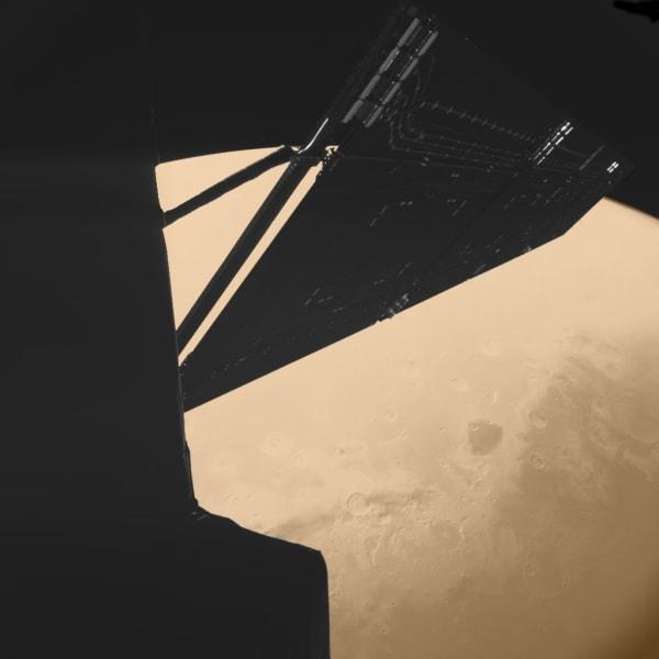 Rosetta over Mars