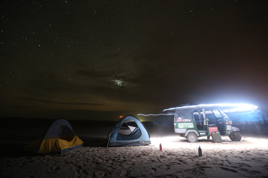 Tuk tuk world tour — Camping in Chile