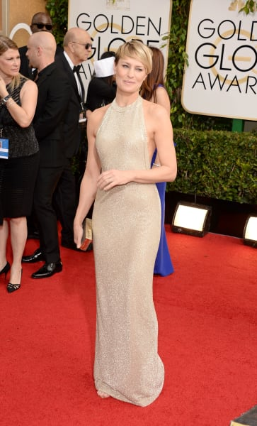 golden globes red carpet - Robin Wright