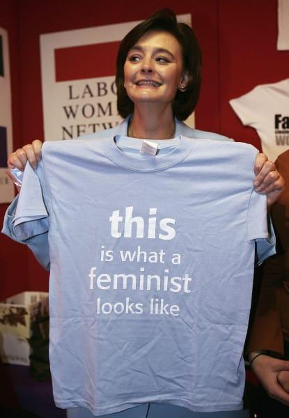 Cherie Blair feminist shirt